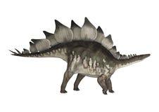 3d在路径的剪报恐龙使影子剑龙空白 向量例证