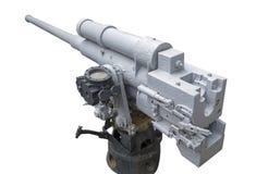 3d在路径翻译影子船白色的大炮剪报 库存照片
