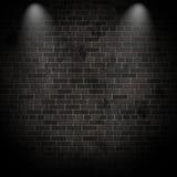 3D在难看的东西砖墙上的聚光灯 免版税库存图片
