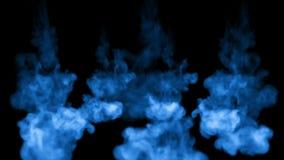 3d在黑背景的水中回报蓝墨水射入溶化并且传播与luma铜铍作为阿尔法通道为 影视素材