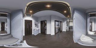 3d在经典样式的例证大厅室内设计 Render是 免版税库存图片