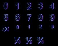 3d在黑背景的字体 库存图片
