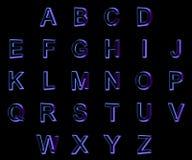 3d在黑背景的字体 库存例证