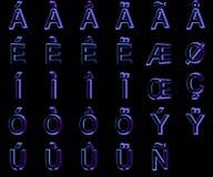 3d在黑背景隔绝的字体 皇族释放例证