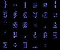3d在黑背景隔绝的字体 向量例证