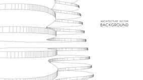 3d地下结构上背景停车库 抽象向量例证 3D企业介绍的抽象未来派设计