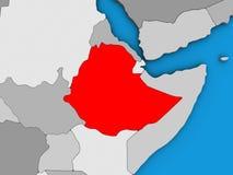 3D地图的埃塞俄比亚 皇族释放例证