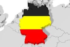 3D地图,旗子-德国 向量例证