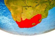 3D地球上的南非 免版税库存图片