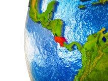 3D地球上的哥斯达黎加 向量例证