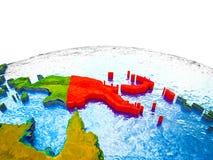 3D地球上的巴布亚新几内亚 皇族释放例证