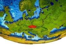 3D地球上的捷克共和国 库存例证