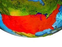 3D地球上的美国 免版税库存图片