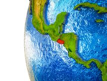 3D地球上的萨尔瓦多 免版税库存照片