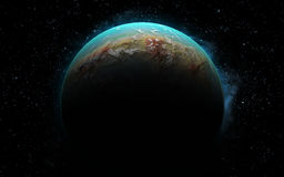 3D地球喜欢行星 库存图片