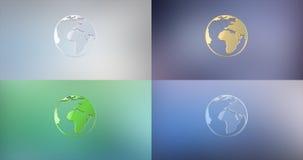 3d地球图标例证向量 免版税图库摄影