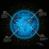 3d地球展望期线路回报了空间 库存图片