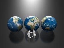 3D地球的例证 库存照片