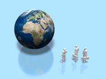 3D地球的例证 库存例证