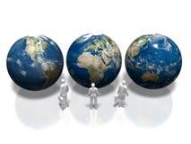 3D地球的例证 向量例证