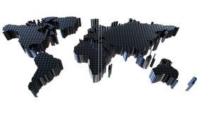 3d地球的地图, 3d例证 皇族释放例证