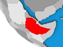 3D地球的埃塞俄比亚 库存例证