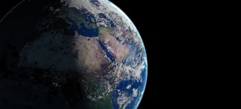 3d地球行星例证 免版税库存照片