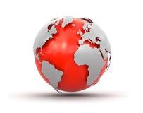 3d地球(包括的裁减路线) 免版税图库摄影