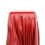 3d垫座和红色织品 向量例证