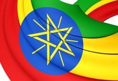 3D埃塞俄比亚的旗子 皇族释放例证