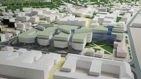 3D城市环境的图表 季度 库存图片