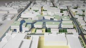 3D城市环境的图表 季度 图库摄影