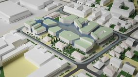 3D城市环境的图表 季度 免版税图库摄影