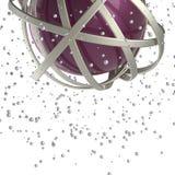 3d多彩多姿的圆环球形在云彩的从多彩多姿的下落 库存照片