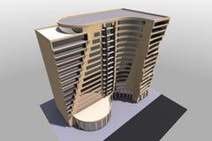 3D大厦在亚美尼亚回报 免版税库存图片