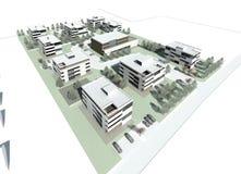 3d大厦小组的模型 图库摄影