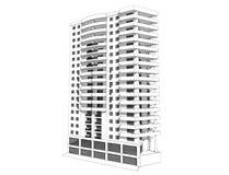 3d大厦 免版税图库摄影