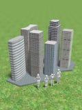 3D大房地产的例证 库存例证