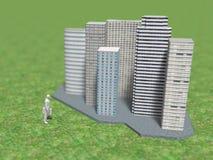 3D大房地产的例证 皇族释放例证