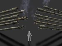 3D大炮的例证 免版税库存图片
