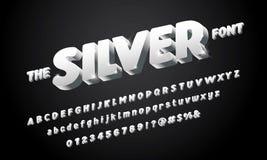 3d大胆的字体 向量例证
