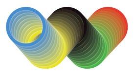 3D奥运会-奥林匹克圈子的标志 皇族释放例证