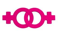 3d女同性恋者标志 免版税库存图片
