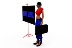 3d妇女下个平实概念 免版税库存照片
