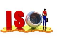 3d妇女ISO概念 免版税库存照片