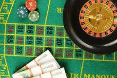 3d娱乐场图象被回报的轮盘赌 免版税库存照片