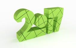 年2017 3D字体设计侧视图 免版税图库摄影