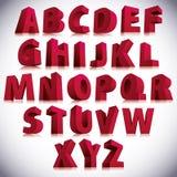 3D字体,大红色信件站立 库存图片
