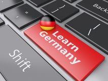 3d学会键盘的德国 登记概念教育查出的老 皇族释放例证