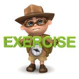 3d孩子远足者锻炼 免版税库存照片
